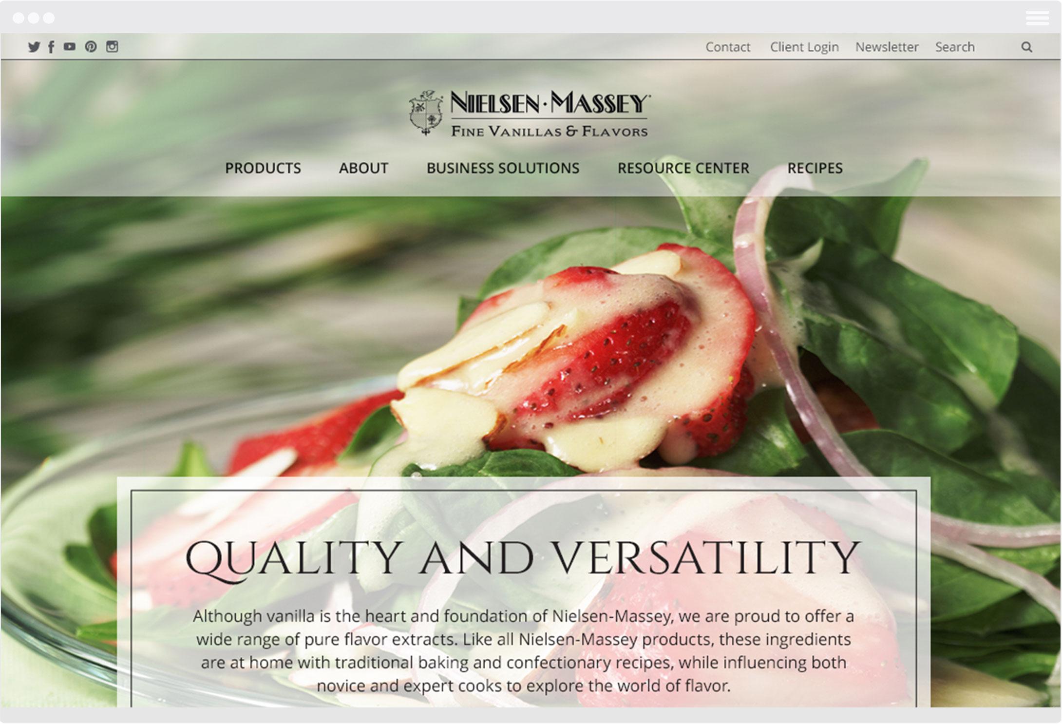 Nielsen Massey Website