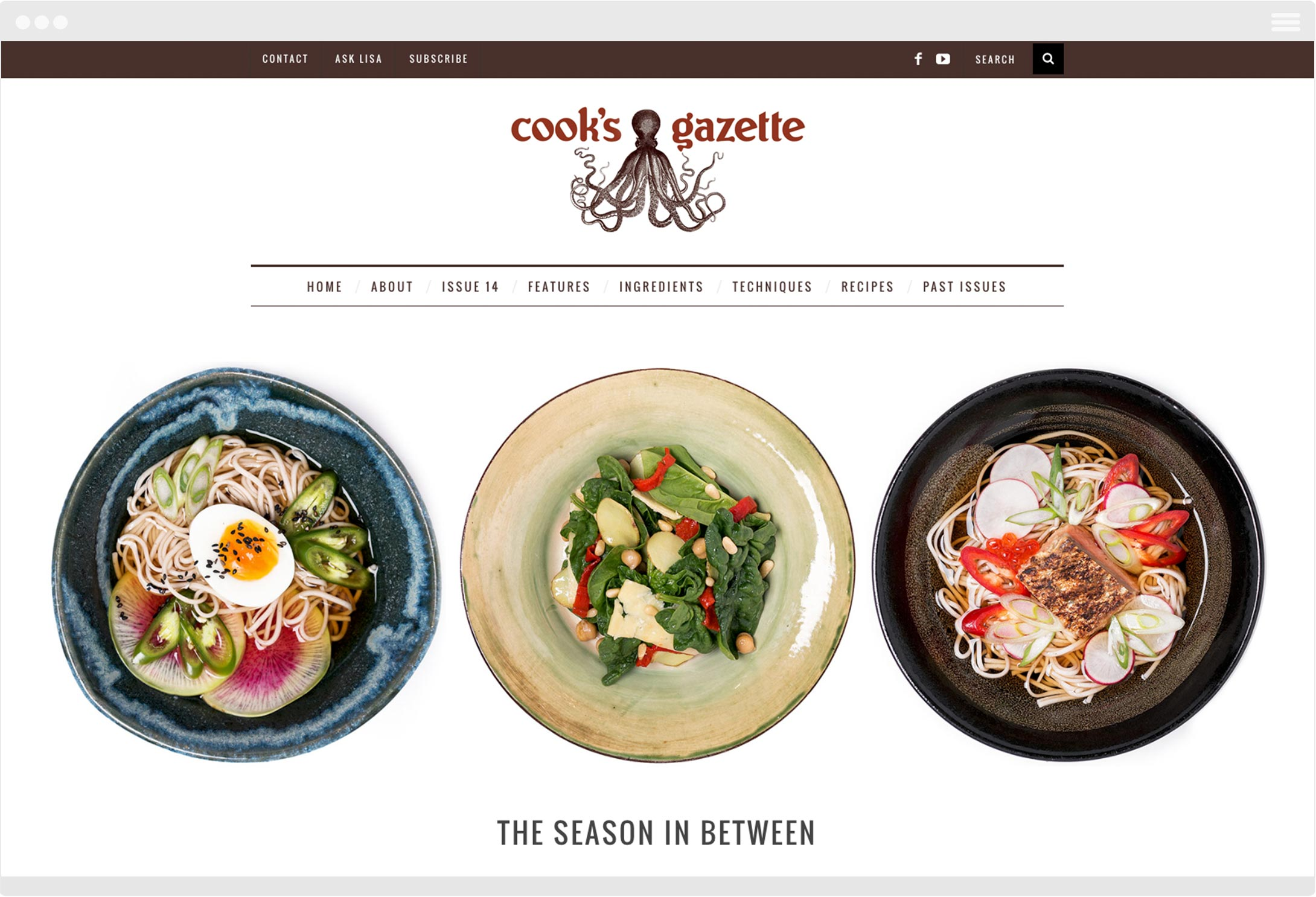 Cook's Gazette website